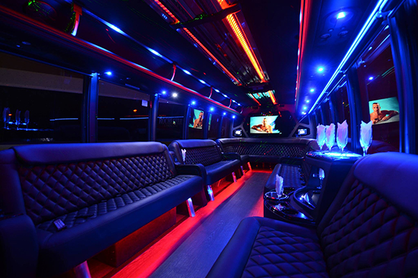40 passenger party bus rental Cary